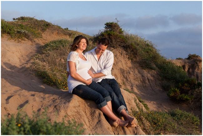 Jenna & Brandon Maternity Session in Malibu