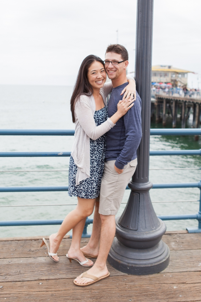 Santa Monica Pier_Engagement Photographer