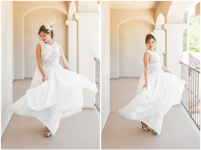 Agoura Hills Day After Session Photo Wedding cute dress twirling