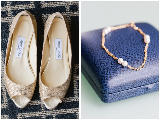 Gold Sparkle Jimmy Choo Flats shoes photo