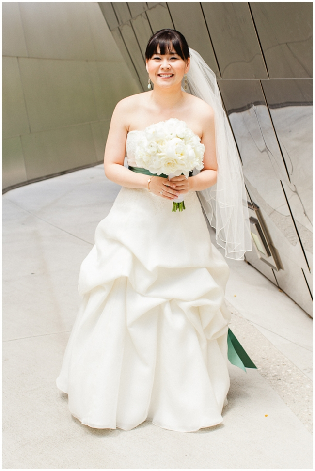 walt disney concert hall bride
